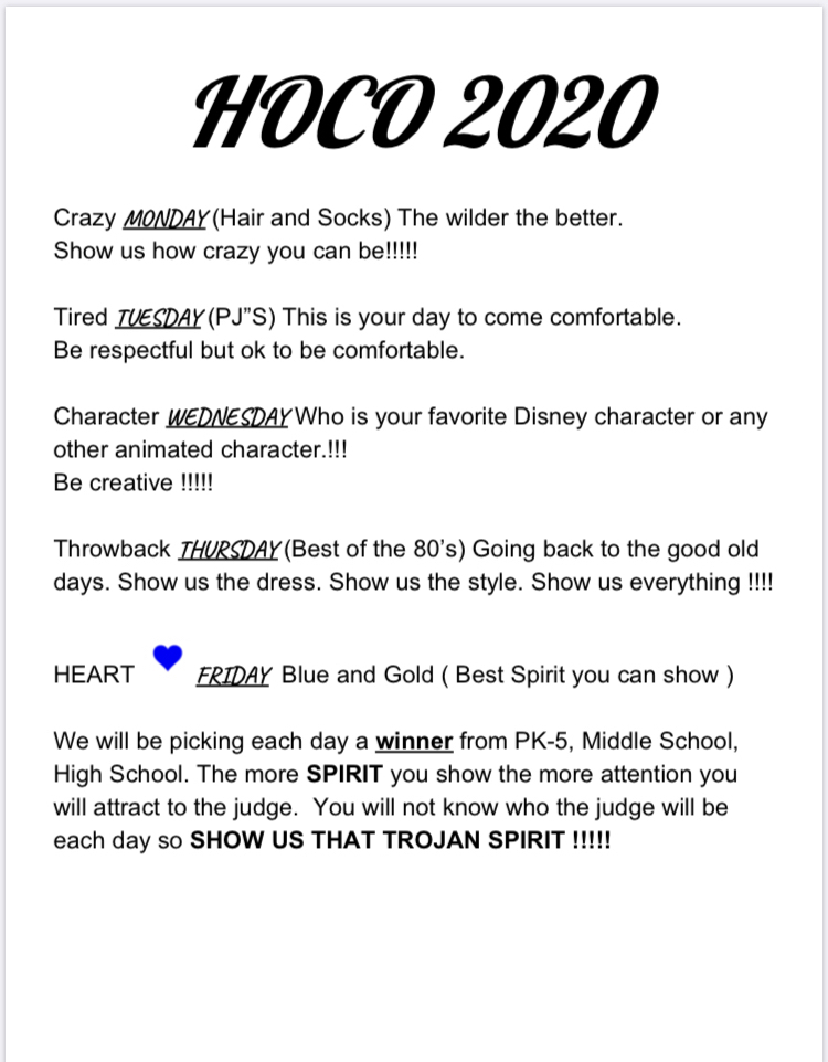 HOCO Spirit Week!